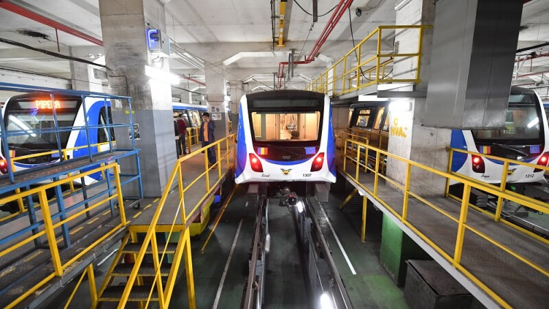 depoul de garare al garniturilor de metrou din Berceni