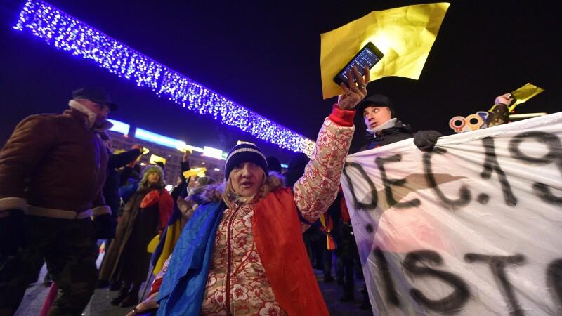 Protest piata victoriei 1 decembrie