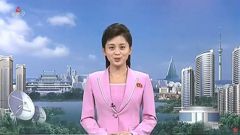 Cum arată noua grafică a televiziunii de propagandă din Coreea de Nord. VIDEO
