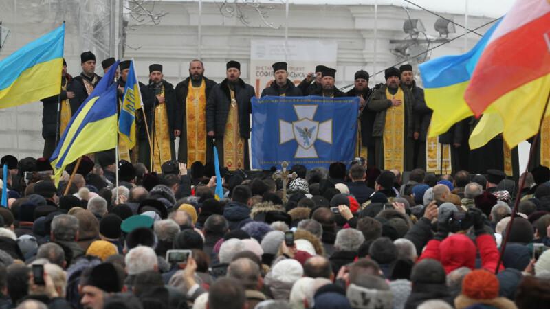Oameni in strada la Kiev