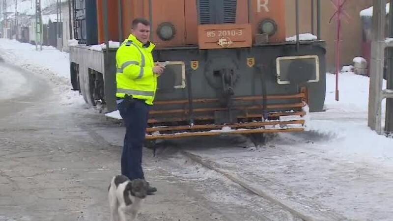 La un pas de o tragedie de proporții. O locomotivă a deraiat într-un cartier din Arad