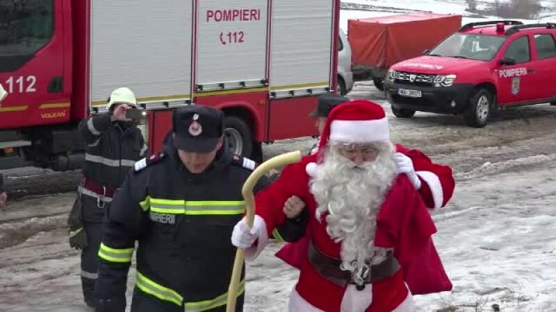 pompieri, Mos Craciun