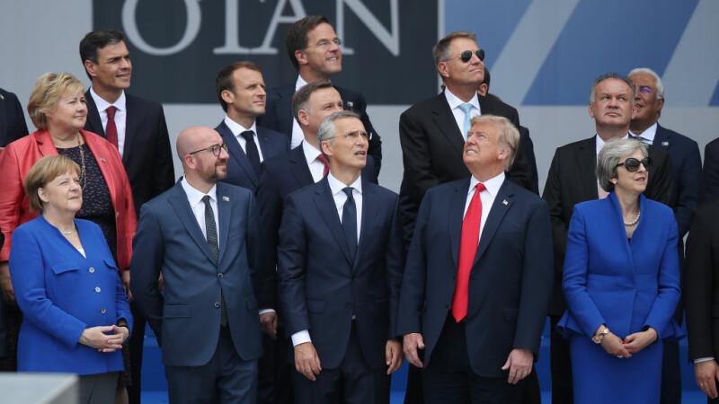 Lideri ai lumii la un summit NATO în Bruxelles