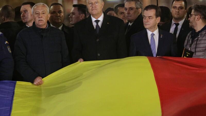 Klaus Iohannis și premierul Orban au participat la marşul de comemorare a victimelor Revoluţiei