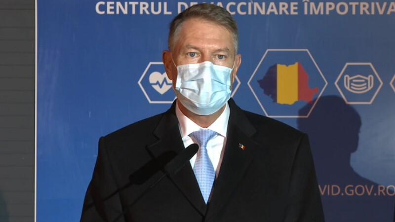 Klaus Iohannis, după vizita la centrul de vaccinare anti-Covid din România