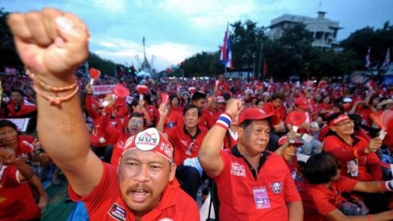 suporteri ai fostului premier thailandez