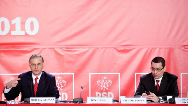 Mircea Geoana si Victor Ponta la Congresul PSD
