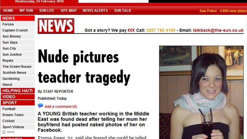 S-a sinucis pentru ca iubitul a postat poze cu ea goala pe Facebook!