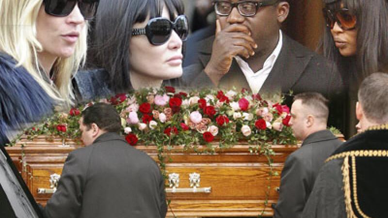 Kate Moss si Naomi Cambell si-au luat adio de la Alexander McQueen