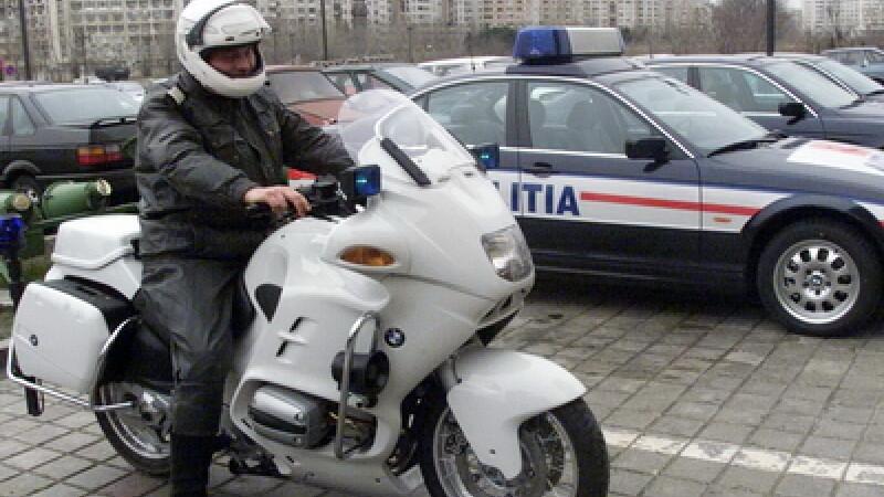 Politist cu motocicleta