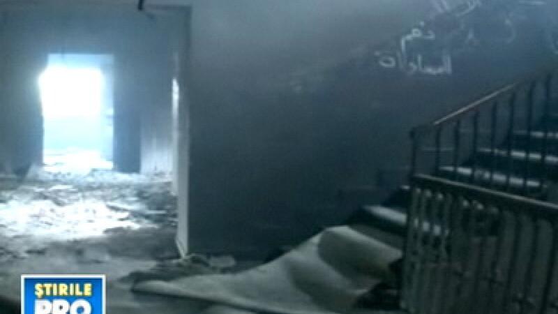 Palatul lui Gaddafi, devastat