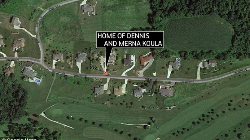 casa familiei Koula, Google Earth