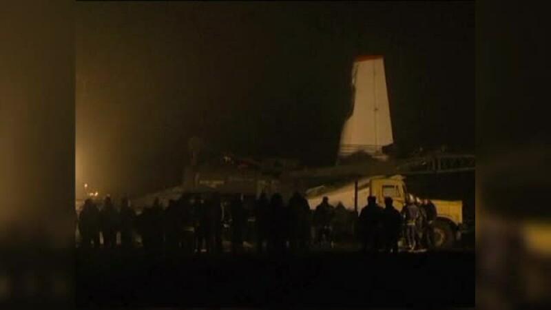 Cinci morti, dupa ce avionul care transporta suporterii Sahtior Donetzk s-a prabusit la aterizare