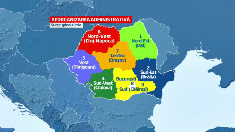 harta regionalizare
