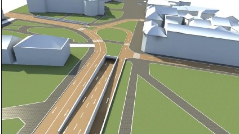 Zona centrala a Timisoarei va fi reorganizata total. Cum va arata subpasajul din Piata Victoriei