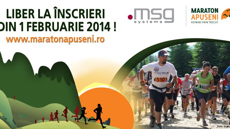 Liber la inscrieri pentru cea de-a IV-a editie a Maratonului Apuseni msg systems
