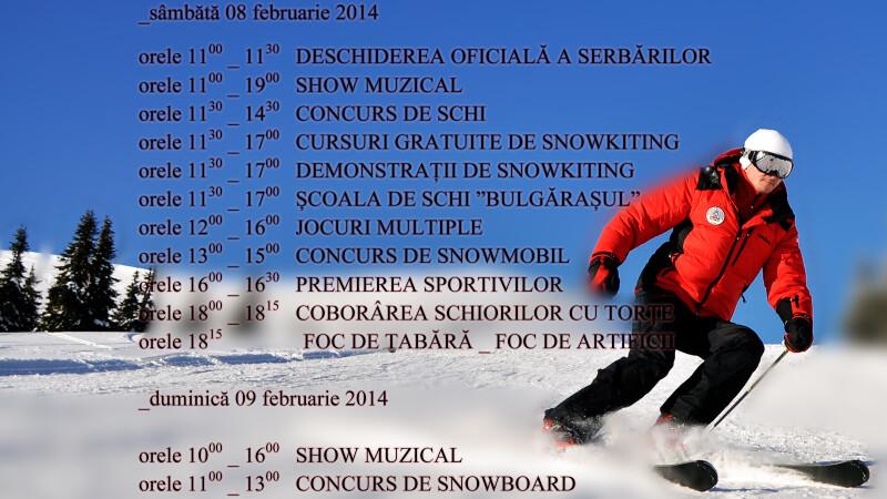 Distractie si voie buna pe partiile de la domeniul schiabil Sureanu la cea de-a treia editie a Serbarilor Zapezii