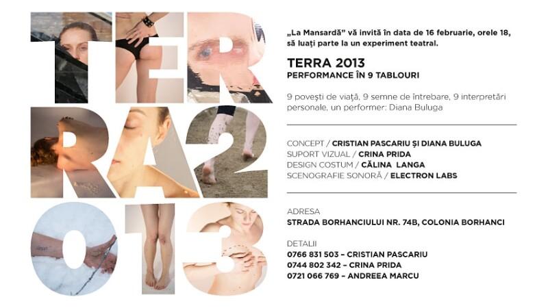Experiment teatral, TERRA 2013 - 9 povesti de viata in 9 tablouri la Cluj-Napoca