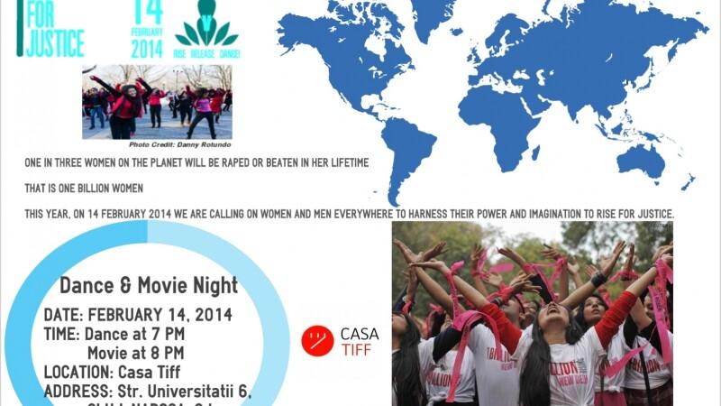 Campania globala One Bilion Rising, sustinuta la Cluj-Napoca