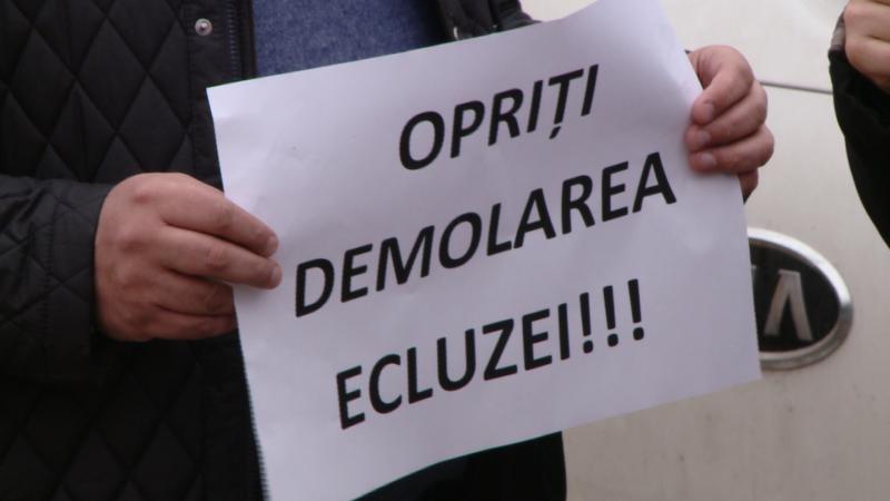 protest, ecluza timisoara