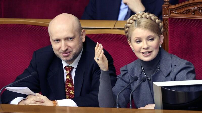Aleksandr Turcinov si Iulia Timosenko