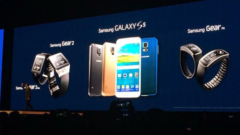 Noul Galaxy S5, alaturi de bratara Gear Fit si ceasul Galaxy Gear