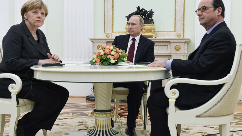 Hollande, Putin, Merkel