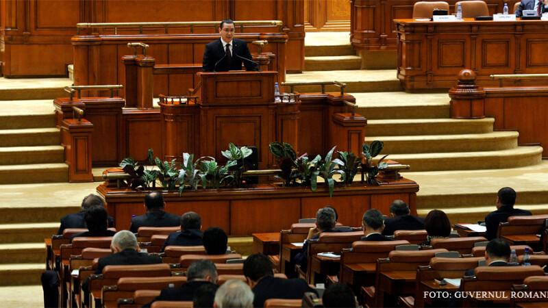 Victor Ponta in fata Parlamentului