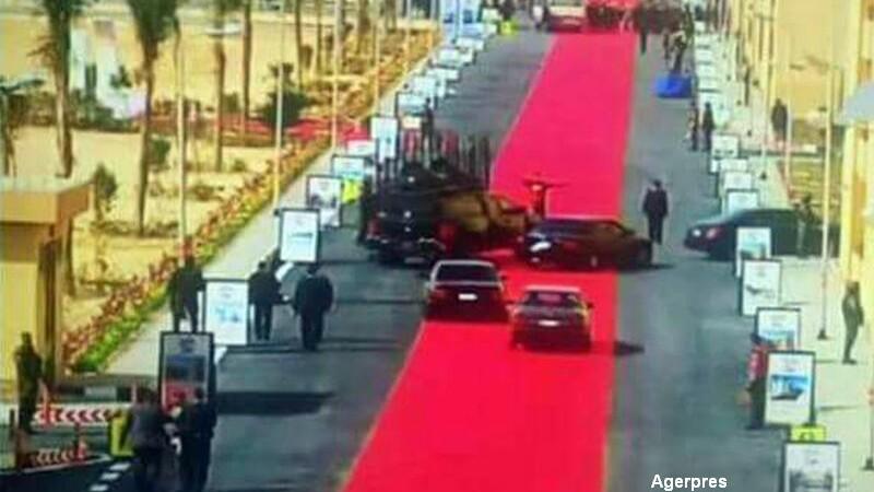 Covor rosu la vizita presedintelui egiptean