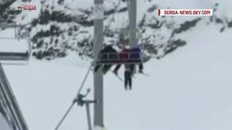 Copil de 11 ani, la un pas de moarte dupa ce a alunecat din telescaun si a ramas agatat in aer timp de 10 minute