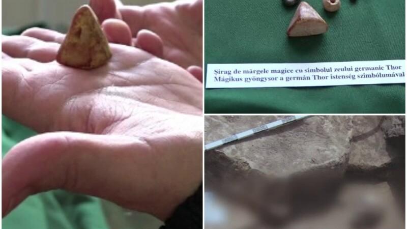 Semnificatia obiectelor gasite in mormantul vrajitoarei de la Carei. Arheologii sunt convinsi ca in zona exista un cimitir