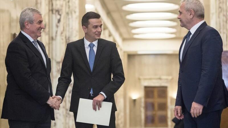 Calin Popescu Tariceanu, Liviu Dragnea si Sorin Grindeanu