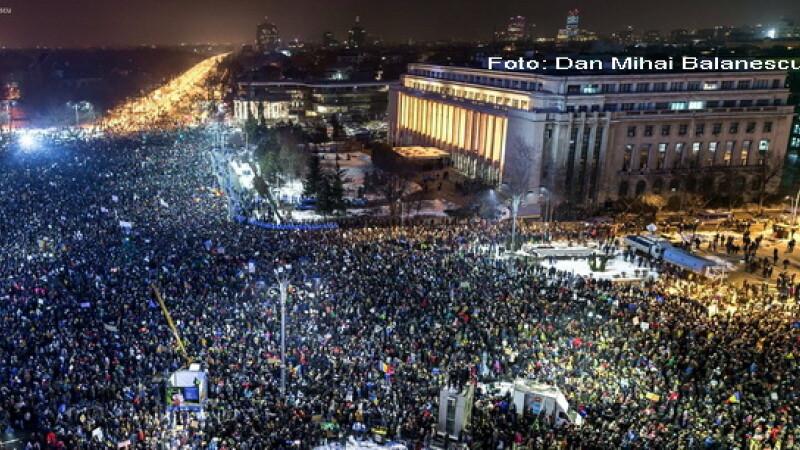 80.000 de oameni au protestat in Piata Victoriei.