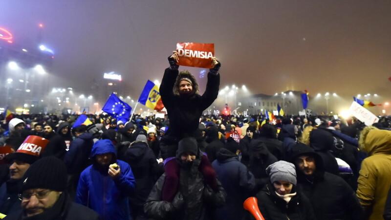 protest, Piata Victoriei - agerpres
