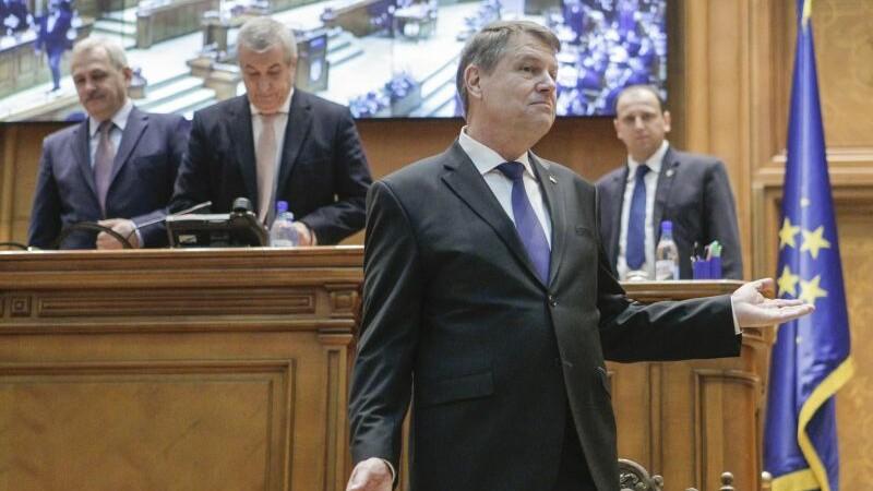 Klaus Iohannis, discurs in Parlament