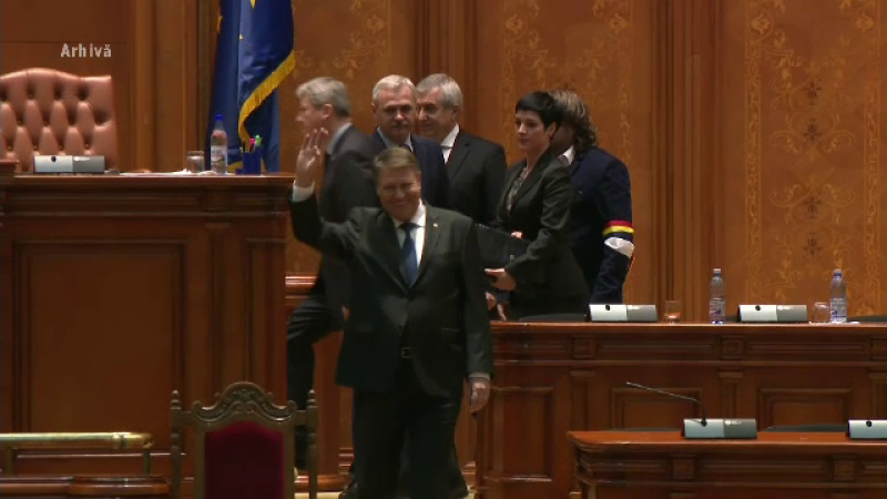 Klaus Iohannis in Parlament