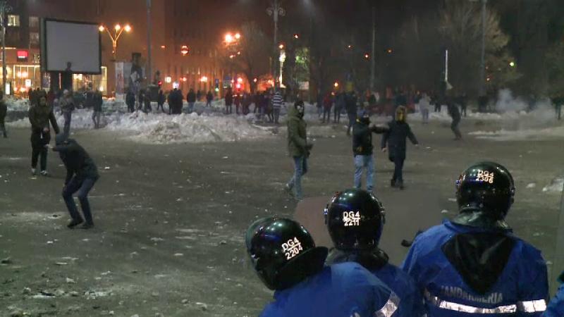 suspecti violente Piata Victoriei - stiri