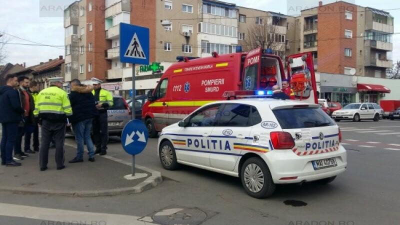 Polițist lovit, Arad