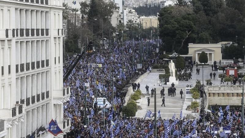 grecia, macedonia, protest, atena,