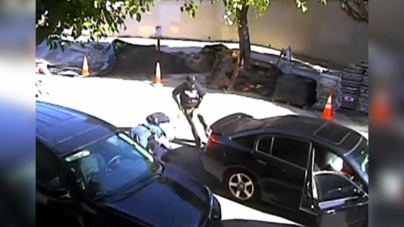 Polițist lovit cu mașina de un hoț prins în flagrant, care voia să fugă de la locul faptei