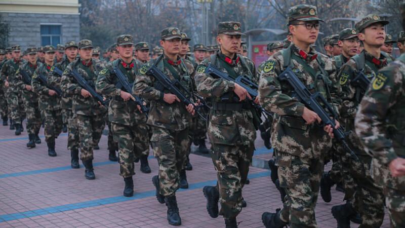 china, soldati, granita, coreea de nord,