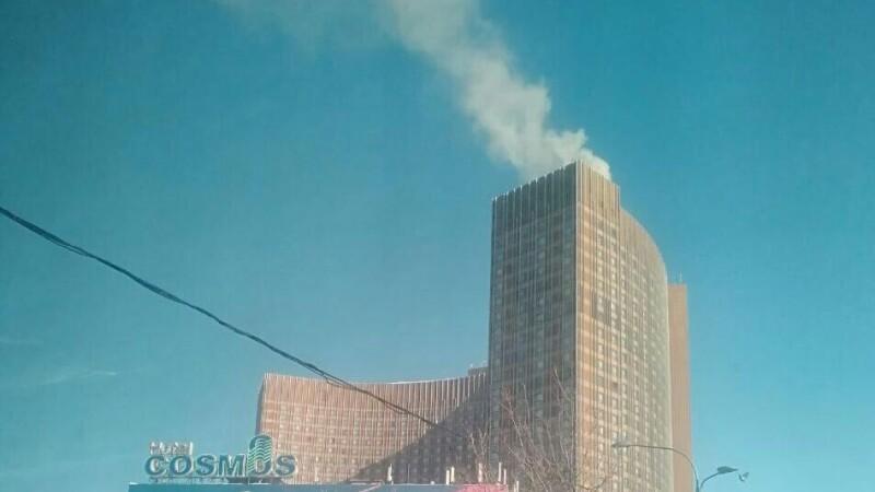 incendiu la hotelul Cosmos din Moscova