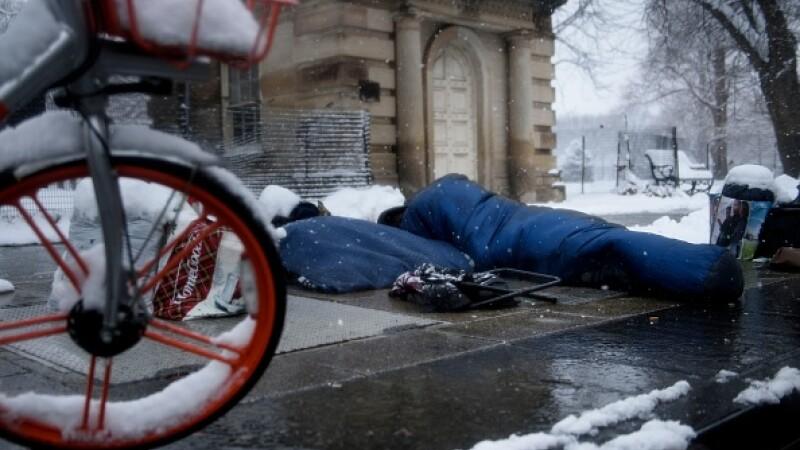 Chicago, vortex, frig, oameni ai strazii, umanitar