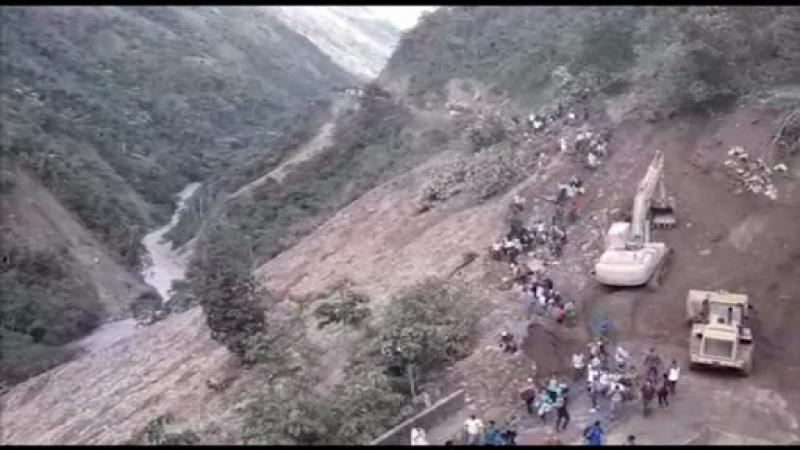 alunecare, teren bolivia,