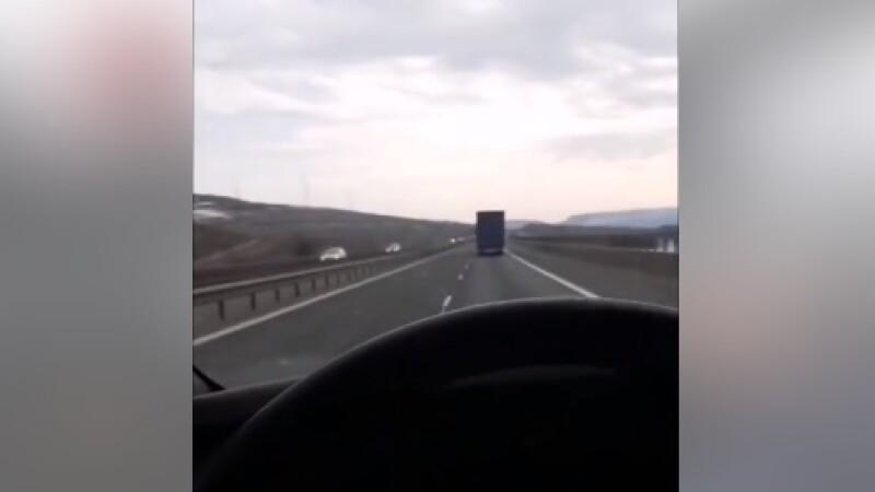 Accidentul de pe autostrada Turda-Gilău, transmis live pe Facebook chiar de șofer. VIDEO