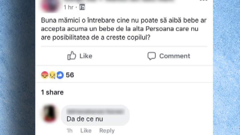 Copil nenascut vandut pe Facebook