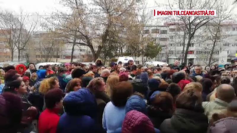 Protest la spitalul din Tulcea