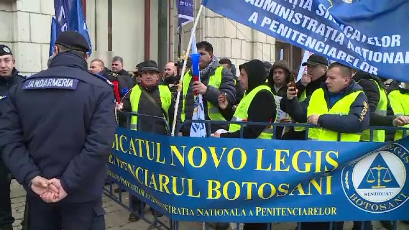proteste polițiști, sindicate penitenciar
