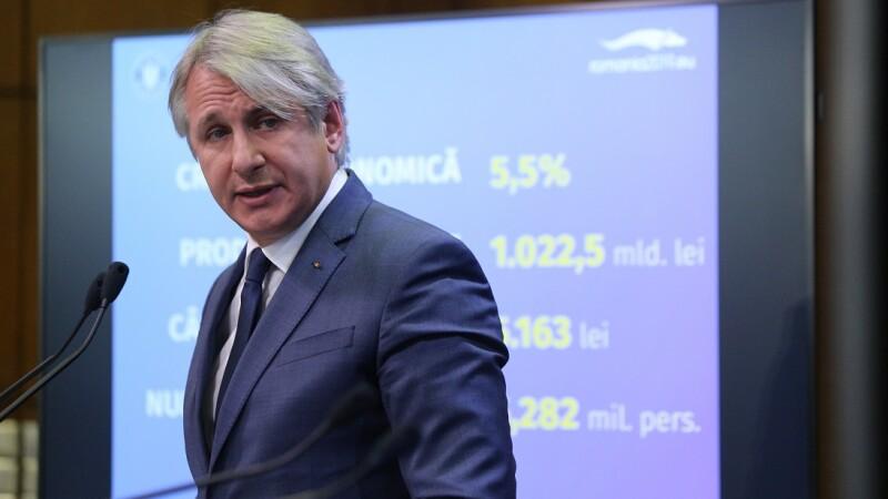 """Teodorovici: """"Vom modifica OUG 114. Taxa pe lăcomie """"se schimbă în """"stimulent pentru hărnicie"""""""