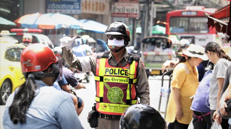 politie rutiera in Thailanda
